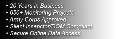 Silent Inspector/DQM Compliant. 600+ Monitoring Projects. 20 years in business. ACoE recomended.